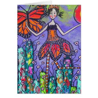 La tarjeta mágica de la primavera del monarca