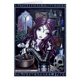 La tarjeta mágica del taller del Faerie del alquim