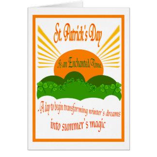 La tarjeta mágica del verano del St. Patricks