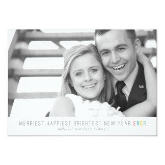 La tarjeta más brillante más feliz más feliz de la invitación 12,7 x 17,8 cm
