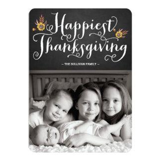"""La tarjeta más feliz de la acción de gracias de la invitación 5"""" x 7"""""""