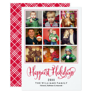 """La tarjeta más feliz del collage de la foto de los invitación 5"""" x 7"""""""