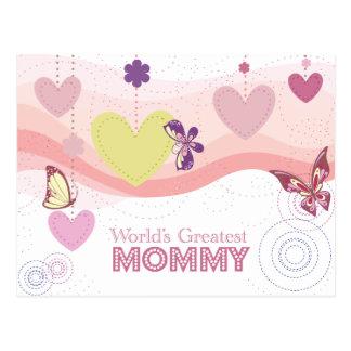 La tarjeta más grande de la mamá de la mariposa postales