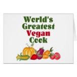 La tarjeta más grande del cocinero del vegano del