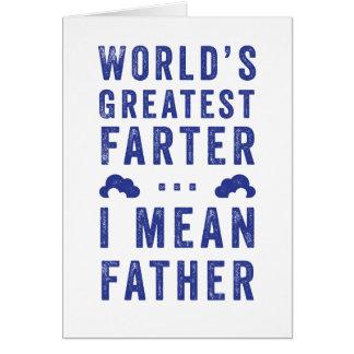 La tarjeta más grande del día de padre de Farter