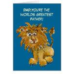 La tarjeta más grande del día de padres de los mun