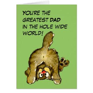 La tarjeta más grande del gato del papá