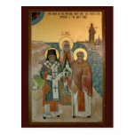 La tarjeta ortodoxa americana del rezo de la misió postales
