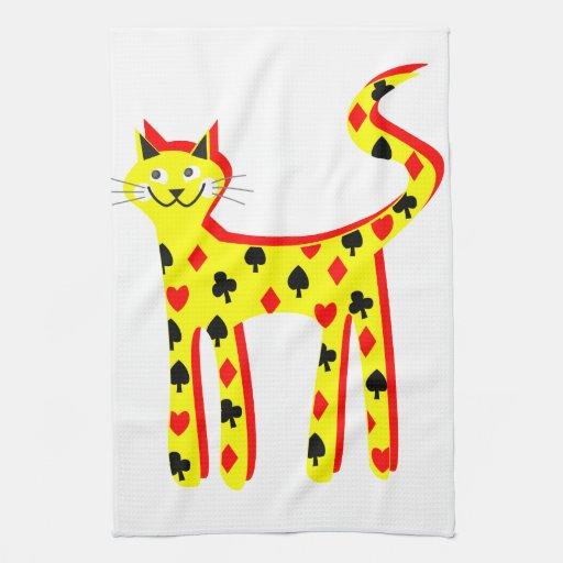 La tarjeta patteren el gato toallas