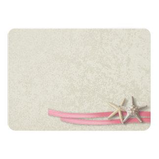 """La tarjeta plana de las estrellas de mar y de la invitación 4.5"""" x 6.25"""""""