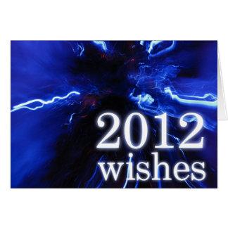 La tarjeta que desea de 2012 Años Nuevos