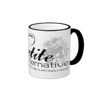 La taza alternativa menuda del logotipo