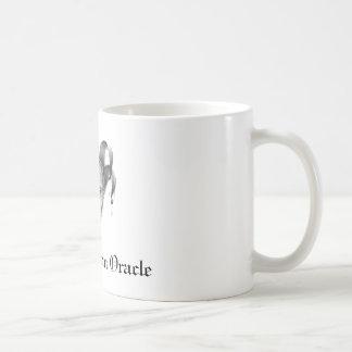 La taza americana del logotipo de Oracle