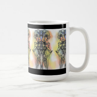 La taza coloreada del dúo de la mariposa