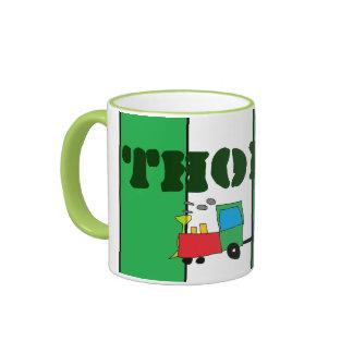 La taza con el tren dice a Thomas