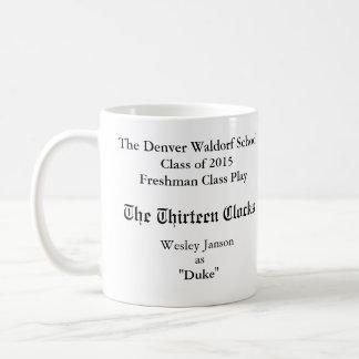 La taza conmemorativa de trece relojes