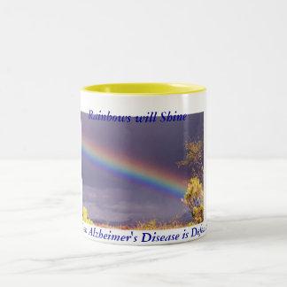 La taza de Alzheimer del arco iris