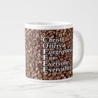"""La taza de café 20 onza """"Cristo ofrece el perdón Taza Grande"""