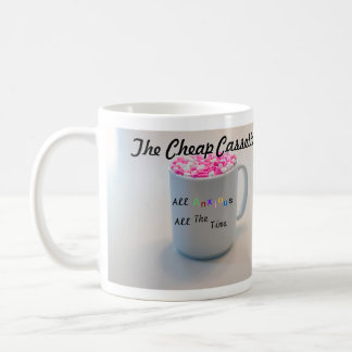 La taza de café barata de los casetes