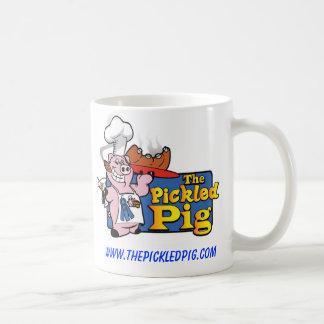 La taza de café conservada en vinagre del cerdo
