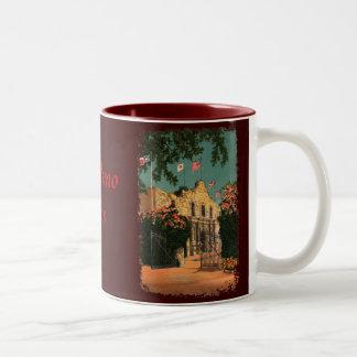 La taza de café de Tejas del vintage de Álamo