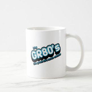 La taza de café del logotipo de GR80s