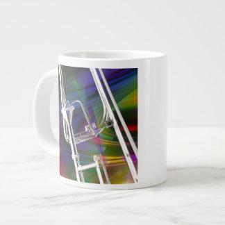 La taza de café del Trombone de diapositiva, taza Taza Grande