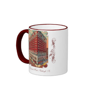 La taza de café del vintage del hotel de Roosevelt