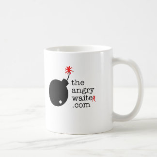 La taza de café enojada del camarero - logotipo la