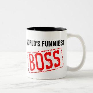 La taza de café más divertida de Boss del mundo