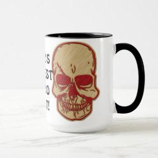 La taza de café más grande del artista del tatuaje