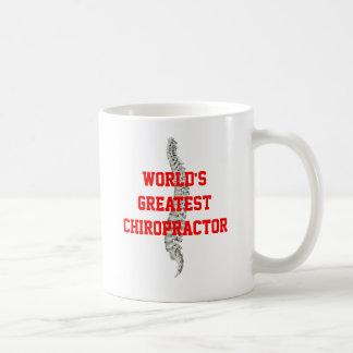 La taza de café más grande del Chiropractor del mu