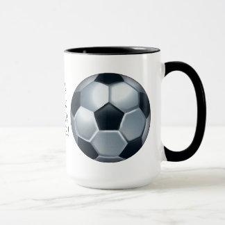 La taza de café más grande del jugador de fútbol