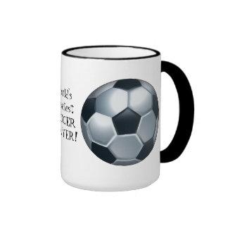 La taza de café más grande del jugador de fútbol d
