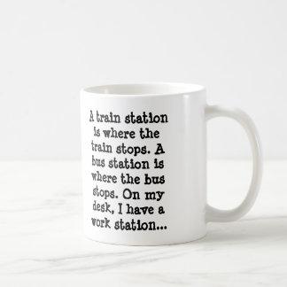 ¡La taza de café perfecta en el trabajo!