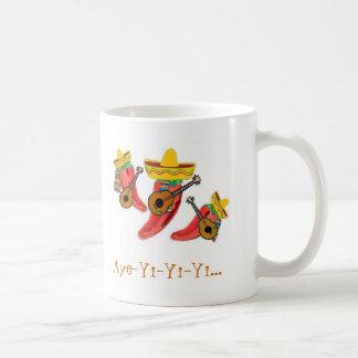 La taza de café, pimientas de chiles, Mariachi