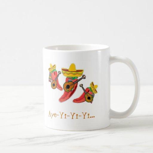 La taza de café, pimientas de chiles, Mariachi con