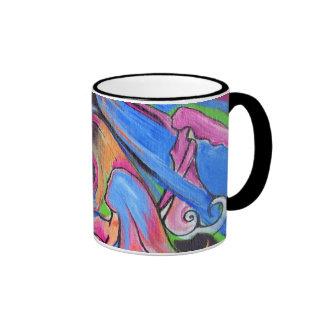 La taza de café rosada del campanero de Lovelies d