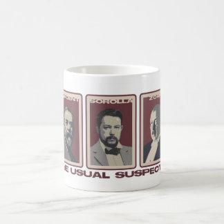 La taza de café usual de los sospechosos