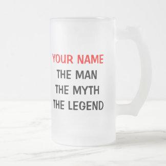 La taza de cerveza de cristal de la leyenda del mi
