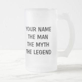 La taza de cerveza de la leyenda del mito del homb