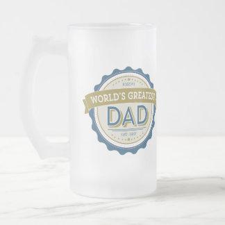 La taza de cerveza más grande del papá del mundo
