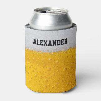 La taza de cerveza personaliza enfriador de latas