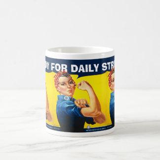 la taza de encargo divertida del vintage corrige