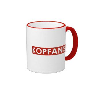 La taza de Kopfans - franja roja