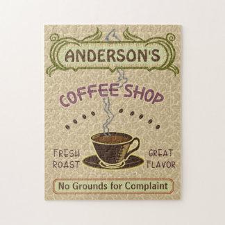 La taza de la cafetería crea su propia luz rompecabezas con fotos