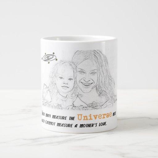 La taza de la cita de la relación del madre-niño tazas jumbo