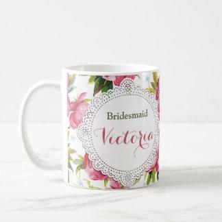 La taza de la dama de honor, criada del regalo del