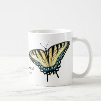 La taza de la mariposa de Swallowtail del tigre