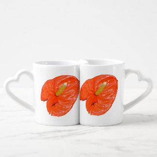 La taza de los amantes chinos abigarrados de la taza para enamorados